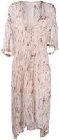 IRO abstract print chiffon dress