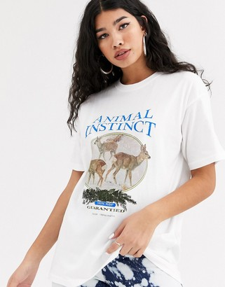 Local Heroes relaxed t-shirt with vintage animal graphic