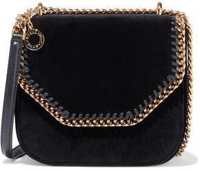 Stella McCartney Falabella Chain-trimmed Velvet Shoulder Bag