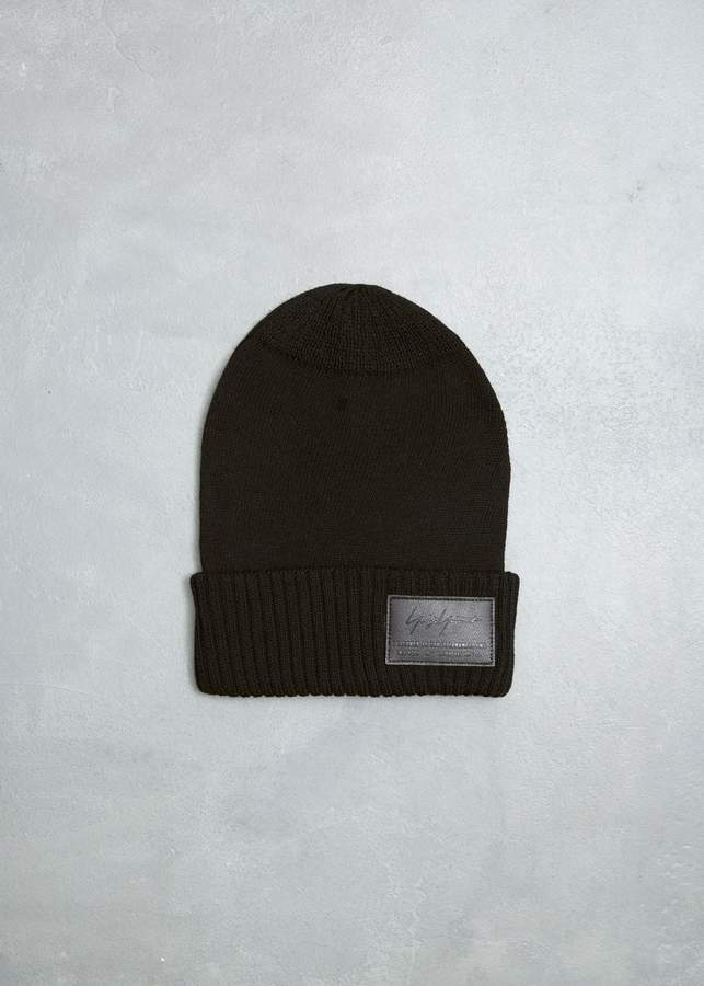 Yohji Yamamoto Knit Logo Beanie
