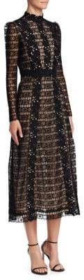 Giambattista Valli Floral Lace Midi Dress