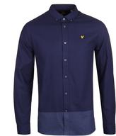 Lyle & Scott Navy Stripe Twill Long Sleeve Shirt