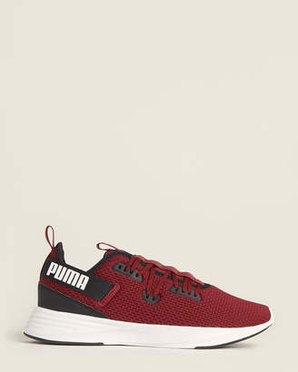 Puma Cordovan & White Throttle Running Sneakers