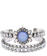 LuLu*s Temple of the Sun Gold and Cream Rhinestone Bracelet Set
