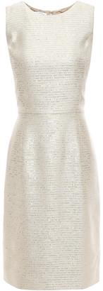 Oscar de la Renta Embellished Embroidered Lame Dress