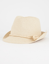 Full Tilt Straw Girls Fedora Hat
