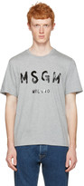 MSGM Grey Paint Logo T-shirt