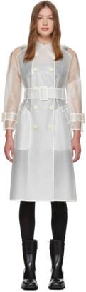 ALEXACHUNG White Bateman Trench Coat