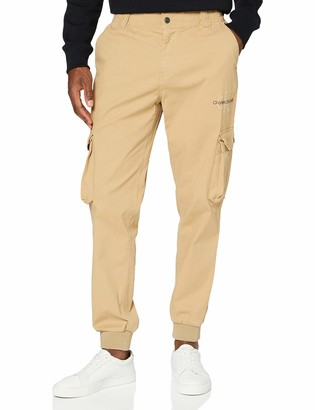 Calvin Klein Jeans Men's Cargo Slim Mixed MED Cuffed Trousers