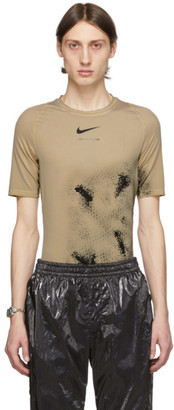 Alyx Beige Nike Edition Treated Short Sleeve T-Shirt