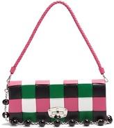 Miu Miu Patchwork woven-leather shoulder bag