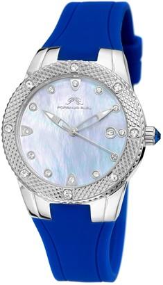 Porsamo Bleu Women's Linda Swarovski Crystal Accented Quartz Watch, 36mm