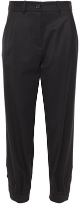 Nili Lotan Bertina Wool-twill Tapered Pants