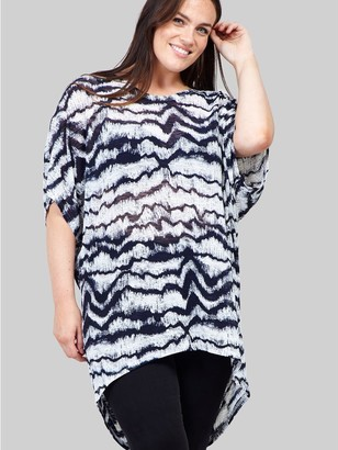 M&Co Izabel Curve tie dye t-shirt