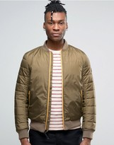 Timberland Quilted Bomber Jacket Slim Fit In Green