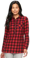 Croft & Barrow Women's Flannel Plaid Tunic
