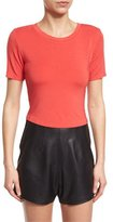KENDALL + KYLIE Short-Sleeve Cropped T-Shirt, Poppy