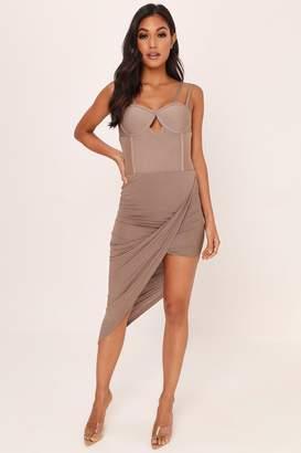 I SAW IT FIRST Mocha Wrap Skirt