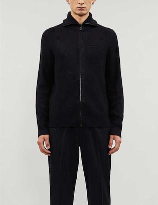BOSS Chunky-knit wool-blend cardigan