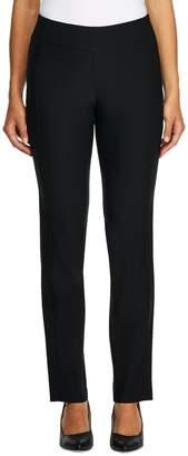 Haggar Petite Bengaline Pull-On Slim-Fit Pants