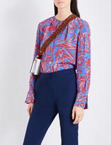 Diane von Furstenberg Elsden-print silk-crepe de chine shirt