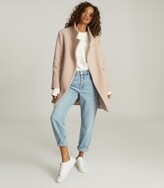 Thumbnail for your product : Reiss Sicily - Wool Blend Mid Length Coat in Pale Pink