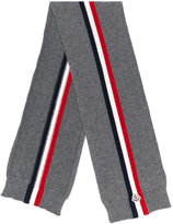 Moncler tri-stripe knitted scarf