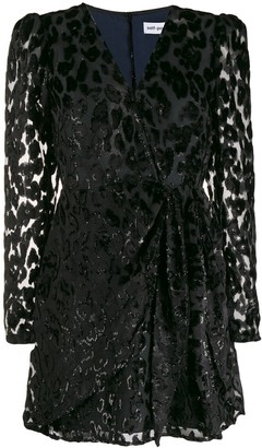 Self-Portrait Leopard Print Embellished Dress