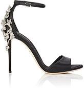 Dolce & Gabbana Women's Bejeweled Ankle-Strap Sandals-BLACK