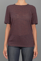 T by Alexander Wang Linen Striped Tee Black/Red
