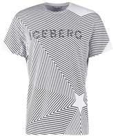 Iceberg Print Tshirt Bianco Ottic