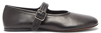 Proenza Schouler Boyd Leather Mary Jane Flats - Black