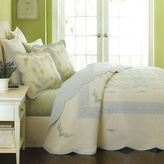 Martha Stewart Collection Martha Stewart Patchwork Rings Full Quilted Bedspread Blue / Multi - Msrp $300