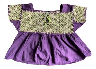 Laurence Dolige Purple Glitter Top for Women