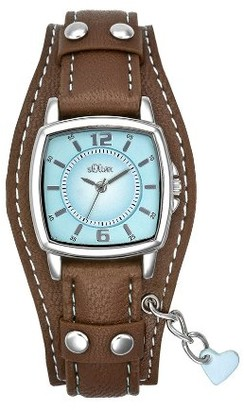 S'Oliver Girls' Analogue Quartz Watch with Leather Strap SO-1339-LQ