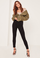 Missguided Mid Rise Skinny Jeans Black