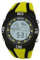 Henley Digital Sports Chronograph Watch on Silicone Strap Men's Digital Watch with Grey Dial Digital Display and Yellow Silicone Strap HDG0219
