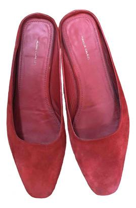 Mansur Gavriel Red Suede Sandals