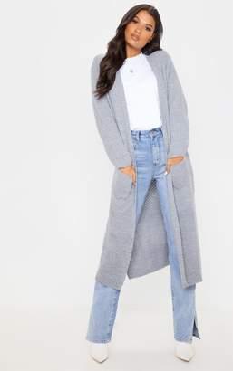 PrettyLittleThing Black Chunky Knit Maxi Cardigan