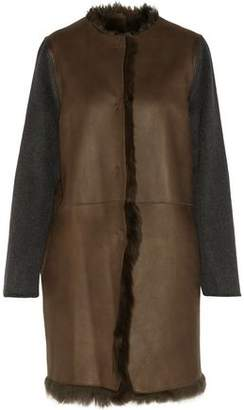 Yves Salomon Reversible Shearling, Leather, Wool, And Cashmere Coat