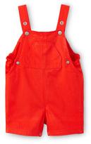 Petit Bateau Baby boy short overalls in plain twill