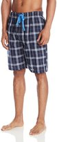 Perry Ellis Men's Plaid Woven Sleep Short