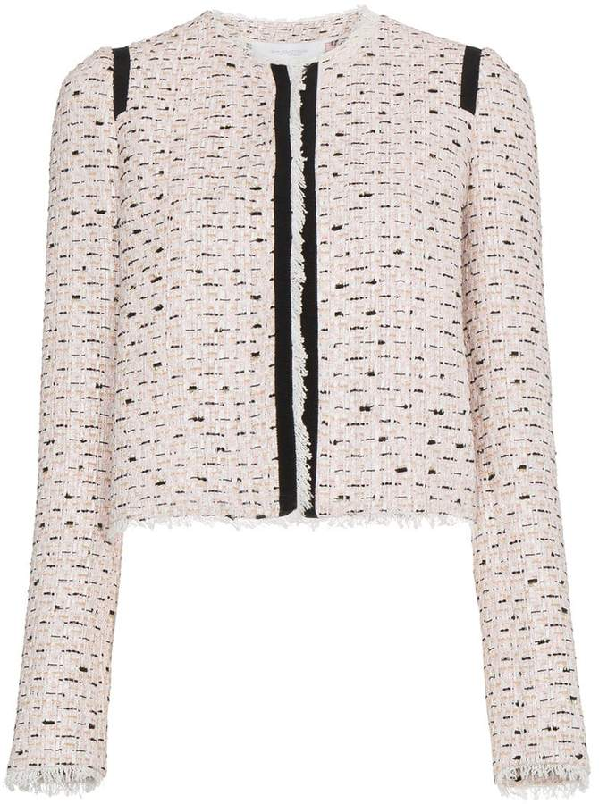 Giambattista Valli Tweed jacket with piping
