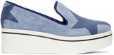 Stella McCartney Blue Denim Platform Binx Sneakers