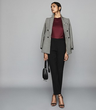 Reiss Pax - High Neck Top in Berry