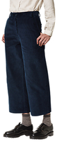 Toast Cropped Corduroy Straight Leg Trousers, Navy