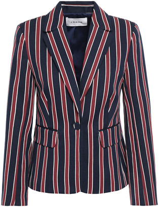 Frame Backstage Striped Cotton-blend Twill Blazer