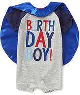 Mud Pie Baby Boys 12-18 Months Birthday Boy Shortall & Cape Set