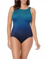 LE COVE Le Cove Chevron One Piece Swimsuit