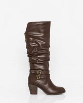 Le Château Faux Leather Round Toe Knee-High Boot
